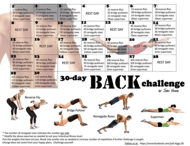 30 day back challenge